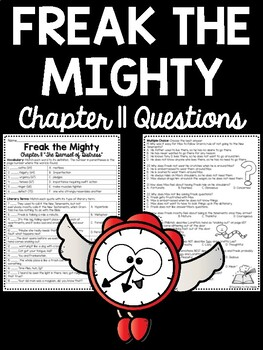 Freak the Mighty Chapter 11 reading comprehension workshee