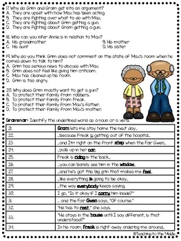 Freak the Mighty Chapter 14 questions, Philbrick, Comprehension