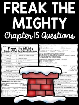 Freak the Mighty Chapter 15 questions, reading comprehension, Philbrick