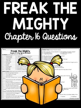 Freak the Mighty Chapter 16 questions, reading comprehensi