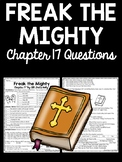 Freak the Mighty Chapter 17 Reading Comprehension Worksheet
