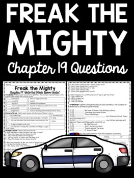 Freak the Mighty Chapter 19 questions, Philbrick, Comprehension