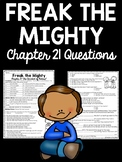 Freak the Mighty Chapter 21 questions, Philbrick, Comprehension