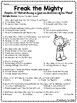 Freak the Mighty Chapter 22 questions, reading comprehension, Philbrick