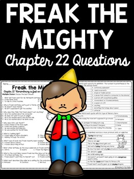Freak the Mighty Chapter 22 questions, reading comprehensi