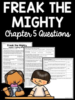 Freak the Mighty Chapter 5 Reading Comprehension Worksheet; Realistic Fiction