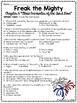 Freak the Mighty Chapter 6 Reading Comprehension Worksheet; Realistic Fiction