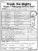 Freak the Mighty Chapter 7 Reading Comprehension Worksheet; Realistic Fiction