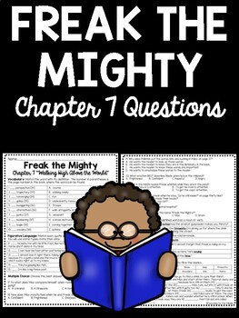 Freak the Mighty Chapter 7 Reading Comprehension Worksheet