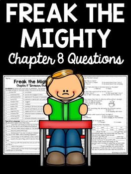 Freak the Mighty Chapter 8 Reading Comprehension Worksheet; Realistic Fiction