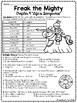 Freak the Mighty Chapter 9 Reading Comprehension Worksheet; Realistic Fiction