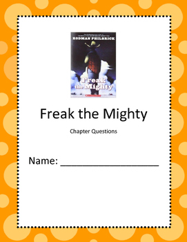 Freak the Mighty Reading Comprehension Questions