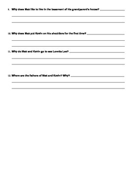 Freak the Mighty Chapters 1-13 Quiz