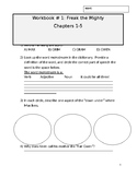 Freak the Mighty Chapters 1-6 workbooklet