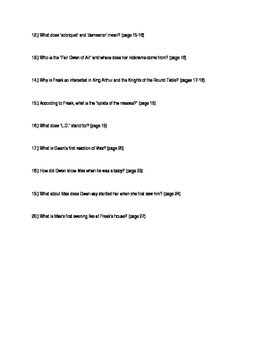 Freak the Mighty Close Reading Questions Chapters 1-5