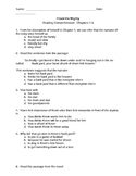 Freak the Mighty:  Comprehension Questions - Chapters 1-5