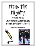 """Freak the Mighty"", Comprehension Questions/Reading Response"
