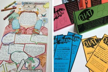 Freak the Mighty End of the Book Project - Task Cards and Doodle Poster