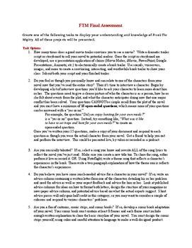 Freak the Mighty Final Assessment Ideas