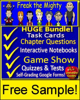 Freak the Mighty Novel Study - FREE Sample!