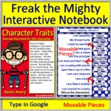 Distance Learning Freak the Mighty Interactive Notebook Google Classroom or Zoom