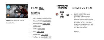 Freak the Mighty: Interactive Online Unit of Study