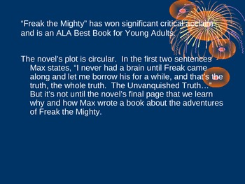 Freak the Mighty Introduction