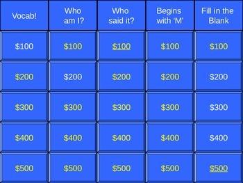 Freak the Mighty Jeopardy