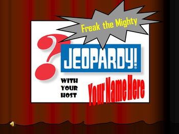 Freak the Mighty Jeopardy Game