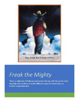 Freak the Mighty Journal