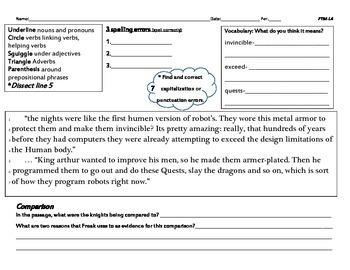 Freak the Mighty Lesson 4- Common Core (grades 5-8)