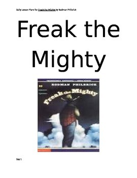 Freak the Mighty Lesson Plans