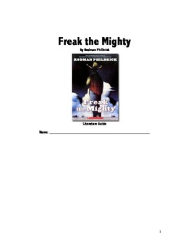 Freak the Mighty Literature Guide