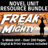 Freak the Mighty Novel Study BUNDLE | GOOGLE - DIGITAL - DISTANCE LEARNING