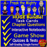 Freak the Mighty NOVEL STUDY Printable and Digital SELF-GRADING GOOGLE FORMS