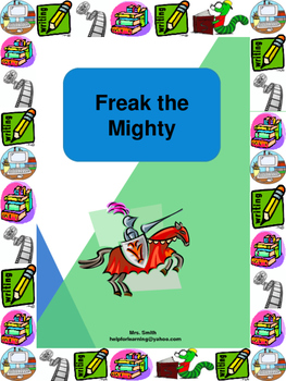 Novel Study: Freak the Mighty-Small Group Style