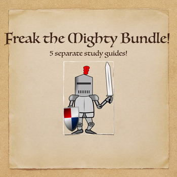 Freak the Mighty Novel Study Guide Bundle- comprehension,