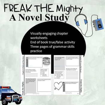 Freak the Mighty Novel Study Workbook