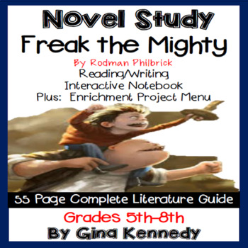 Freak the Mighty Novel Study and Enrichment Project Menu