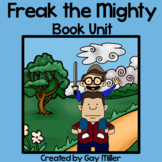 Freak the Mighty Novel Study: vocabulary, chapter questions, writing, skills