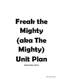 Freak the Mighty Novel Unit