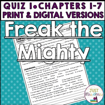 Freak the Mighty Quiz 1 (Ch. 1-9)