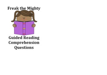 Freak the Mighty Reading Comprehension