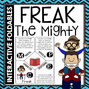 Freak the Mighty: Reading and Writing Interactive Notebook Foldable