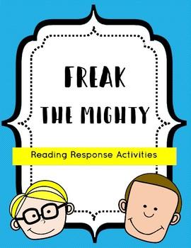 Freak the Mighty Reading Response Activities
