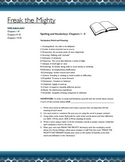 Freak the Mighty: Story Vocabulary and Related Assignments