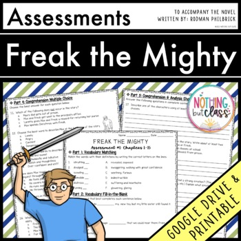 Freak the Mighty: Tests, Quizzes Assessments