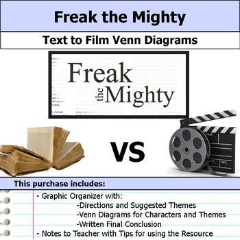 Freak the Mighty - Text to Film Venn Diagram & Written Conclusion