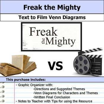 Freak the Mighty - Text to Film Venn Diagram & Written Conclusion