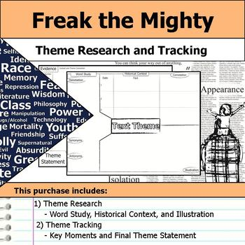 Freak the Mighty - Theme Tracking Notes Etymology & Context Research